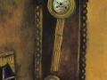 Марк Шагал, «Часы», 1914, бум., гуашь, масло, графит, кар.