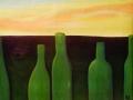 Екатерина Петракова. Пейзаж с бутылками. Фрагмент. Х., м.