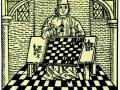 «Монах решает задачу», гравюра 15 века