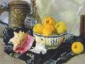 Е. Лансере. Натюрморт. Раковина и яблоки. 1917. Х., м.