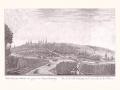 Патрикей Балабин. Вид города Пензы. XVIII век. Офорт. 33,5 х 43,5 см
