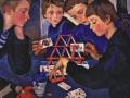 Зинаида Серебрякова. «Карточный домик». 1919. Х.м.