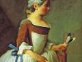 Жан-Симон Гардин. «Девушка с воланом». 1740. Х.м.