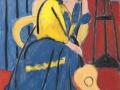 Анри Матисс. Девушка в жёлтом и голубом с гитарой. 1931. Х., м.