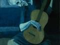 Пабло Пикассо. Старый гитарист. 1903. Х., м.
