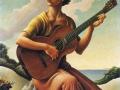 Томас Гарт Бентон. Девушка с гитарой. 1957. Х., м.