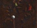Виталий Комар. Созревание шара. 1968. Холст на ДСП, масло. 40 х 45 см. Из коллекции Antonio Piccoli