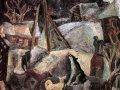 Николай Андронов. Зимняя ночь. Собаки. 1970. Холст, масло. 137 x 137 см. Государственный Русский музей
