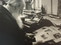Эммануил Евзерихин. Владимир Фаворский, художник-график. 1956. Фото.
