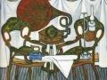 Борис Мессерер. Композиция со стульями и керосиновой лампой. 1980