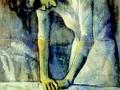 Пабло Пикассо, «Женщина, гладящая утюгом», 1904, х.м