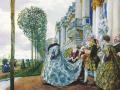 Евгений Лансере. Императрица Елизавета Петровна в Царск. Селе.1905. Х., м.