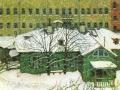 Мстислав Добужинский. Домик в Петербурге. 1905. Бум., гуашь, пастел