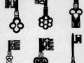Готические ключи с декором архитектурного характера. Франция. XV век