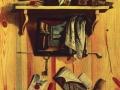 Т. Ульянов. Натюрморт с картиной и книгой. 1737.