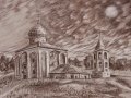 The Church of Savior on Nereditsa. Pencil on paper. 2011.