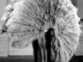 Ребекка Хорн. Веер-тюрьма из перьев.1978. Страусиные перья, дерево, металл, мотор.