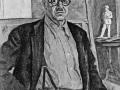 «Автопортрет (в желтой рубашке)». 1943. Х.м.