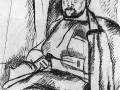 «Портрет историка Николая Генике». 1919. Бум. кар.