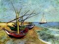 Винсент ван Гог. Лодки возле Санта-Мария. 1888. Х., м.