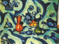 Натюрморт с голубой скатертью. 1909. х., м.