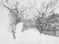 Зима. (Дворик зимой). 1903–1904