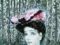 Портрет Н.И. Забелы-Врубель на фоне берёзок. 1904