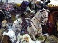Пётр II цесаревна Елизавета на псовой охоте. 1900. Картон, темпера, гуашь.