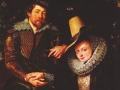 Пауль Рубенс. Автопортрет с Изабеллой Брант (фрагмент). 1610. Х., м.