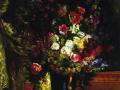 Ваза с цветами на консоли. 1849. Х., м.