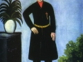 Портрет Александра Гаранова. Клеёнка, масло