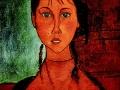 «Девочка с косичками», х.м.