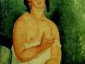 «Молодая сидящая женщина», 1918, х.м.