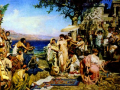 """Генрих Семирадский """"Фрина на празднике Посейдона в Элевсине"""", 1889, х.м."""