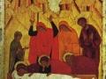 «Положение во гроб», 15 век, русская икона