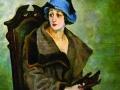 Александр Осмеркин. Женщина, снимающая перчатку. 1924.X., м.