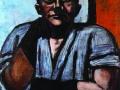 Макс Бекман. Автопортрет в черных перчатках. 1948. X., м.