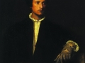 Тициан Вечеллио да Кадоре. Мужчина с перчаткой. 1522. X., м.