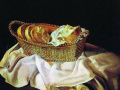 Сальвадор Дали. Корзина с хлебом. 1945. Х., м.