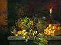 Иван Хруцкий. Натюрморт со свечой. 1830. Х., м.