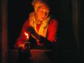 Геррит Доу. Старуха со свечкой. 1670. Х., м.