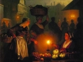 Петрус ван Шендель. Ночной рынок. 1852. Х., м.