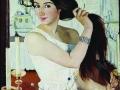 Зинаида Серебрякова. За туалетом. Автопортрет. 1909. Х., м.
