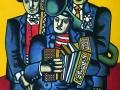Фернан Леже. Три музыканта. 1944. Х., м.