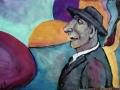 Валерий Ланский. Человек в чёрном галстуке. 1944. Х., м.