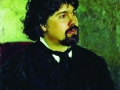 Илья Репин. Портрет Василия Сурикова. 1877. Х., м.