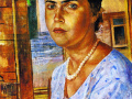 Кузьма Петров-Водкин. Девушка у окна. 1928. Х., м.