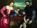 Лоренцо Лотто. Портрет Джованни делла Вольта с женой и детьми. 1547. Х., м.