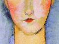 Амедео Модильяни. Портрет Жанны Эбютерн. Х., м. Фрагмент