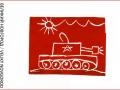 """Слава, 7 лет, г. Санкт-Петербург. Линогравюра/Открытка """"Победители!"""""""